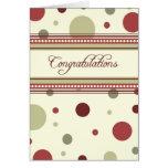 Rojo y beige puntea la tarjeta del aniversario del