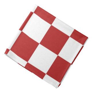 Rojo y blanco a cuadros bandanas