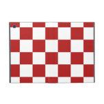 Rojo y blanco a cuadros iPad mini protectores