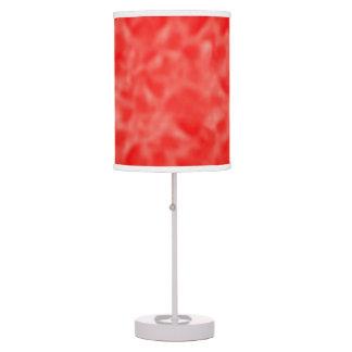 Rojo y blanco abigarrados lámpara de escritorio