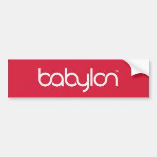 Rojo y blanco de Babilonia Etiqueta De Parachoque