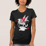 Rojo y blanco de Gryphon Camisetas