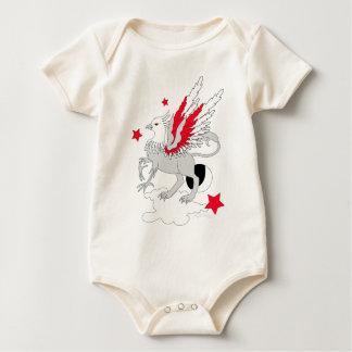 Rojo y blanco de Gryphon Mameluco De Bebé
