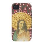 Rojo y blanco de Jesús Case-Mate iPhone 4 Fundas