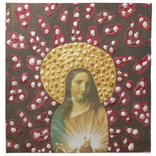 Rojo y blanco de Jesús Servilletas