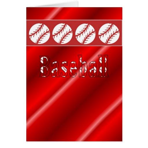 Rojo y blanco de la tarjeta del aficionado al béis