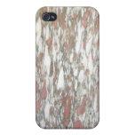 Rojo y blanco de mármol iPhone 4 funda