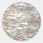 Rojo y blanco de mármol pegatinas redondas