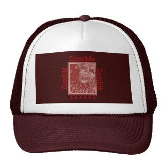 Rojo y blanco del zombi gorras