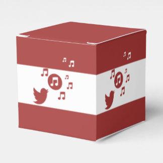 Rojo y blanco elegantes del pájaro cantante caja para regalos de fiestas