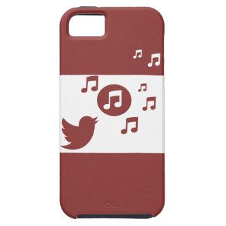 Rojo y blanco elegantes del pájaro cantante funda para iPhone SE/5/5s