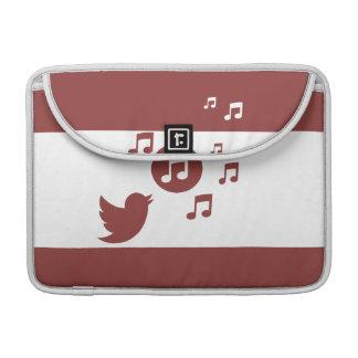 Rojo y blanco elegantes del pájaro cantante fundas para macbook pro