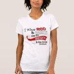 Rojo y blanco para el cáncer oral de la abuela camisetas