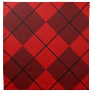 Rojo y Borgoña Argyle Servilleta De Papel