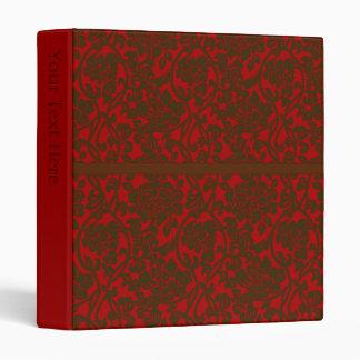 Rojo y carpeta del damasco de Brown