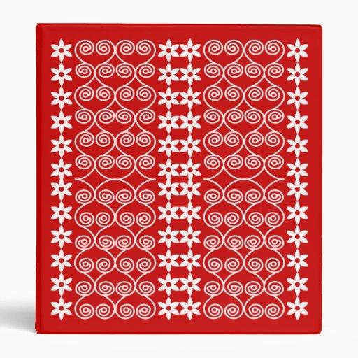 Rojo y carpeta modelada blanco del diseñador