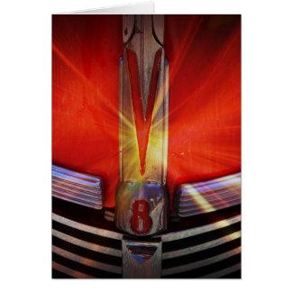 Rojo y cromo V8 Felicitaciones