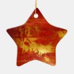 rojo y decoración de cerámica del oro ornamento de reyes magos