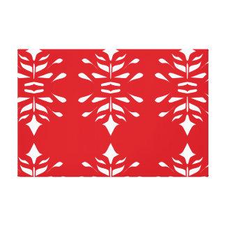 Rojo y decoración grande modelada blanco del arte impresión en tela