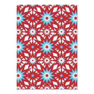 """Rojo y diseño de Starburst del modelo de estrella Invitación 5"""" X 7"""""""