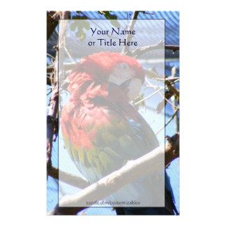Rojo y efectos de escritorio del Macaw del oro Papeleria De Diseño