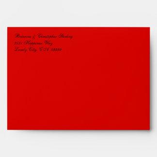 Rojo y ennegrezca 5 x 7 la invitación Enveloeps Sobres