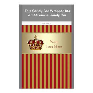 """Rojo y envoltura de la barra de caramelo del prínc folleto 5.5"""" x 8.5"""""""