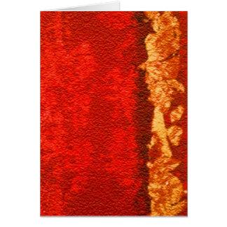 Rojo y extracto del oro tarjeta de felicitación