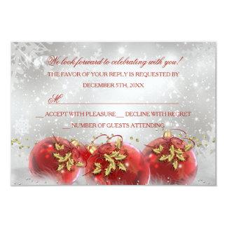 Rojo y fiesta de Navidad RSVP de las chucherías