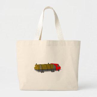 Rojo y gris/camión de registración gris que bolsas lienzo
