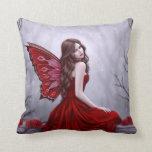 Rojo y gris de hadas de la almohada del rosa de in