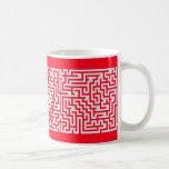rojo y gris solveable de la taza del laberinto