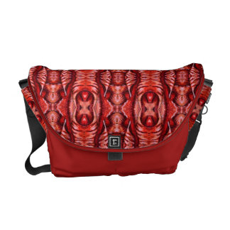 Rojo y la bolsa de mensajero orgánica del modelo d bolsas de mensajeria