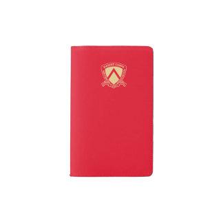 Rojo y logotipo del oro funda para libreta y libreta pequeña moleskine