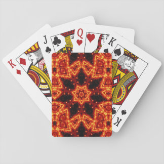 Rojo y medallón cósmico de las nebulosas del oro baraja de cartas