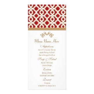 Rojo y menú del marroquí del oro tarjetas publicitarias personalizadas