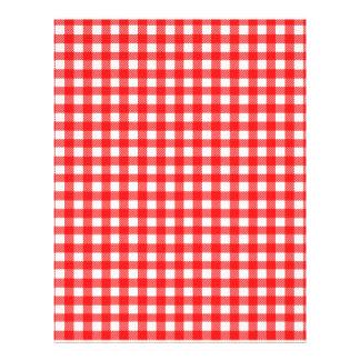 """Rojo y modelo comprobado blanco del mantel folleto 8.5"""" x 11"""""""