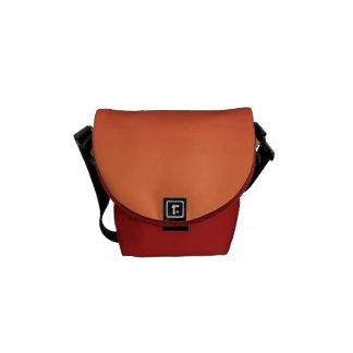 Rojo y naranja bolsa de mensajeria