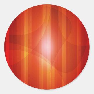 Rojo y naranja pegatina redonda