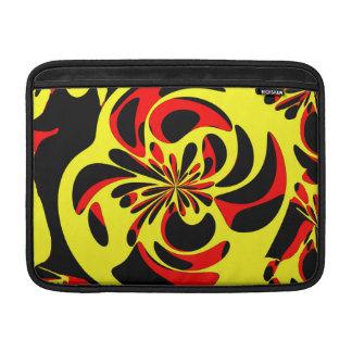 Rojo y negro amarillos fundas macbook air