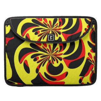 Rojo y negro amarillos fundas macbook pro