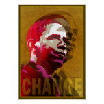 Rojo y oro de Barack Obama Poster