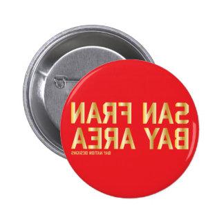Rojo y oro de SFBA Pin