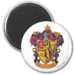 Rojo y oro del escudo de Gryffindor Imán Redondo 5 Cm