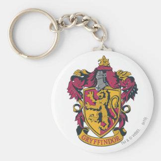 Rojo y oro del escudo de Gryffindor Llavero Redondo Tipo Pin