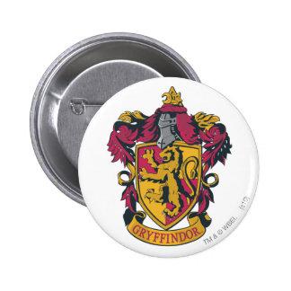 Rojo y oro del escudo de Gryffindor Pin Redondo 5 Cm