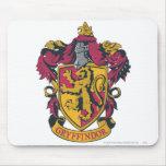 Rojo y oro del escudo de Gryffindor Tapete De Ratones