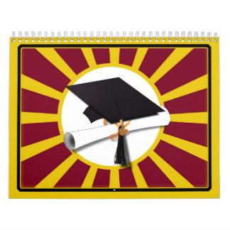 Rojo y oro (ENFOQUE de los colores de la escuela Calendario