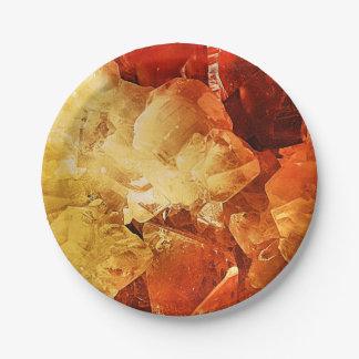 Rojo y oro platos de papel