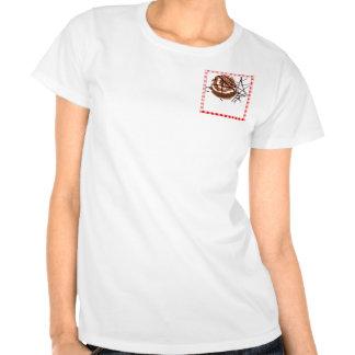 Rojo y postre comprobado blanco de la tela escoces camiseta